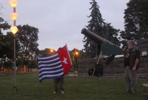 Morning Star Flag at Eureka Vigil