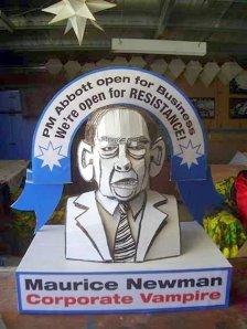 Effigy of Maurice Newman