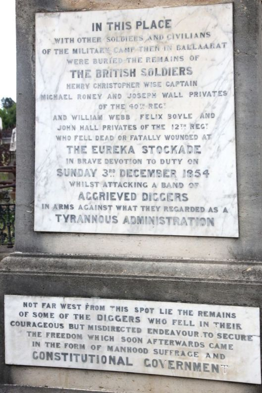 History rewritten in the Soldiers Graves Monument