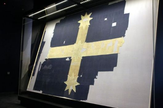 Eureka Flag at last back at the Stockade site at MADE
