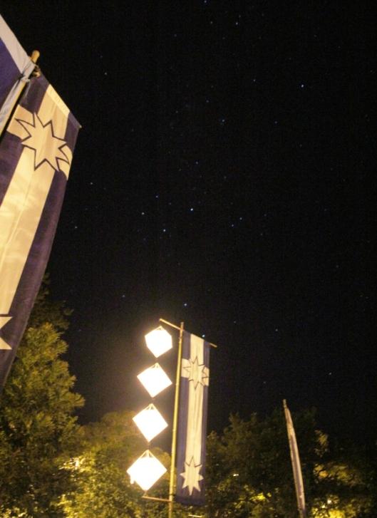 Southern Cross in sky