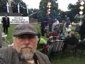 John Englart at Dawn vigil