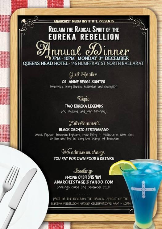 Eureka Dinner Poster 2018